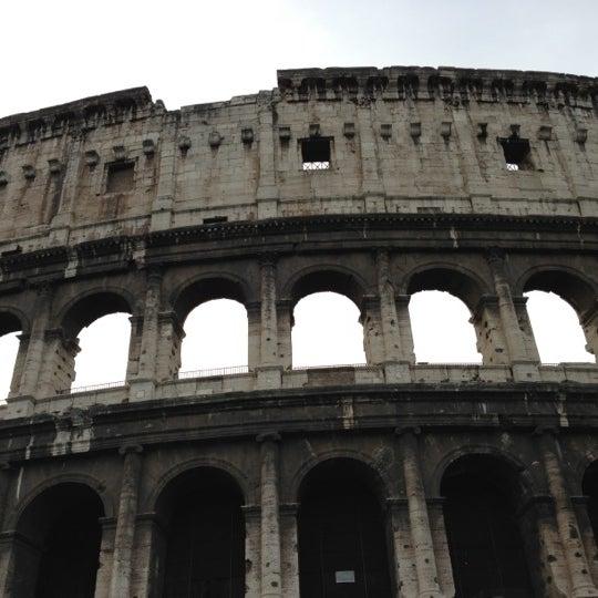 Photo taken at Piazza del Colosseo by Michael H. on 11/30/2012