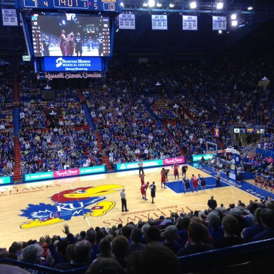 Photo taken at Allen Fieldhouse by Douglas on 11/6/2012