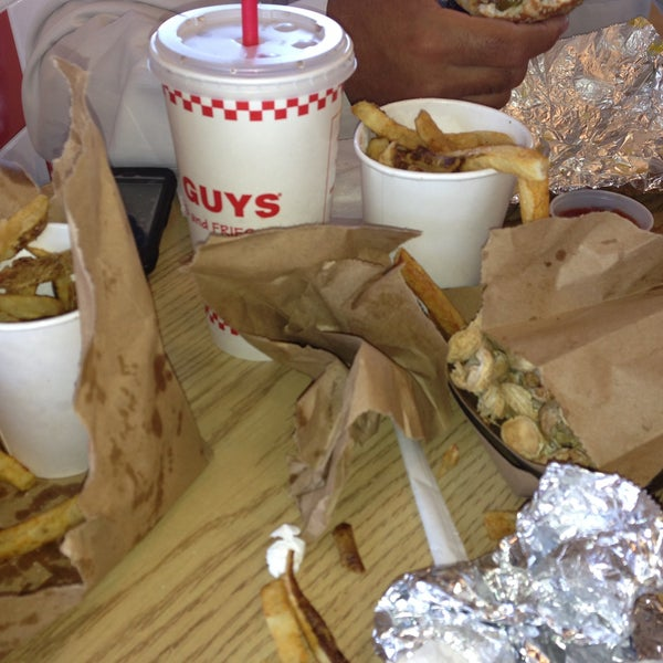 Photo taken at Five Guys by Aaron T. on 6/5/2013