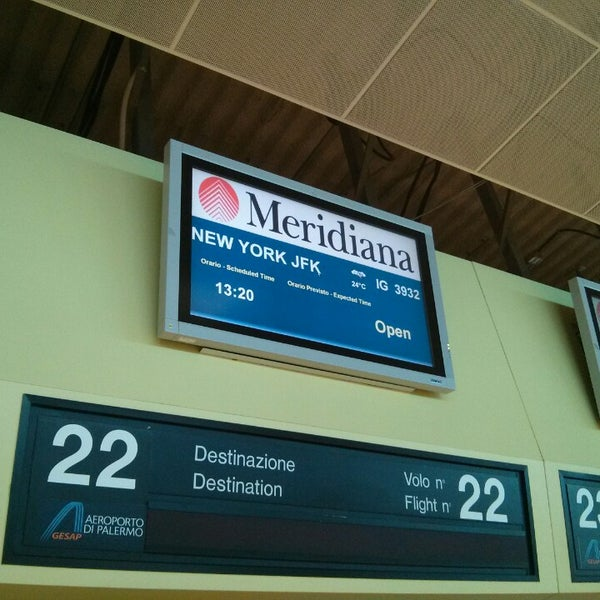 Photo taken at Palermo Airport (PMO) by Giulio D. on 7/23/2013