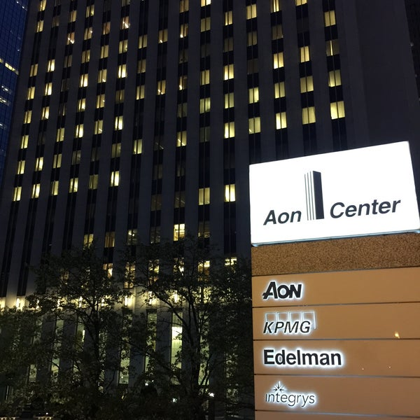 Photo taken at Aon Center by Márcio M. on 5/7/2015