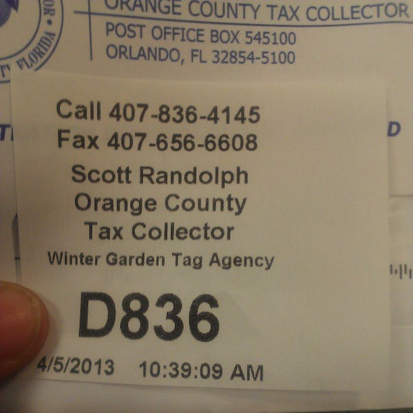 orange county tax collector government building in winter garden