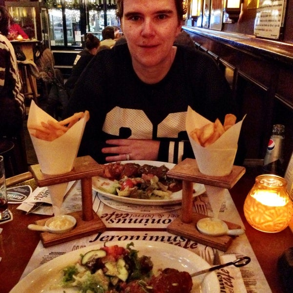 Photo taken at Jeronimus eet & borrel café by Cynthia A. on 12/4/2014