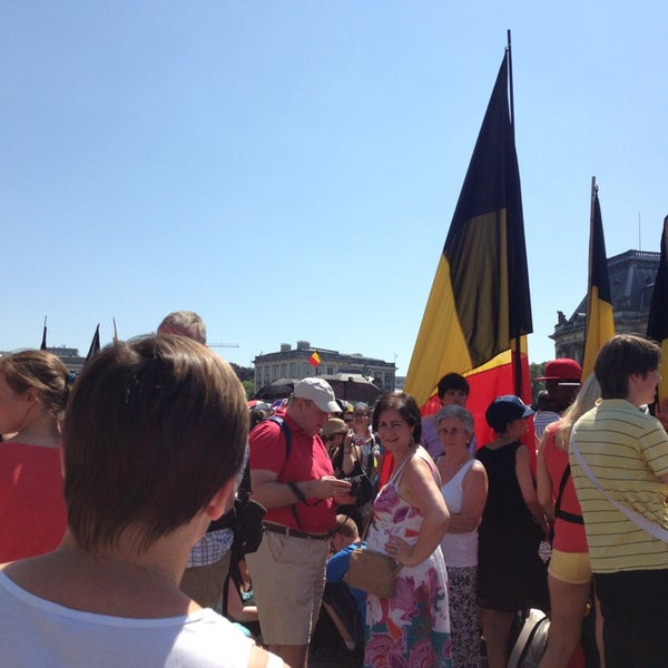 Photo taken at Paleizenplein / Place des Palais by Nina D. on 7/21/2013