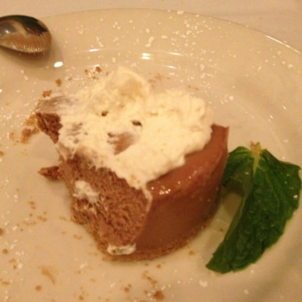 Try the Fernet Chocolate Cheesecake if  it's on the menu! So amazing!