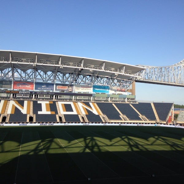 Photo taken at PPL Park by Jamie C. on 7/6/2013
