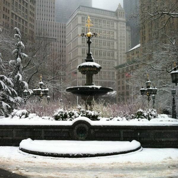 Photo taken at City Hall Park by Tom C. on 3/8/2013