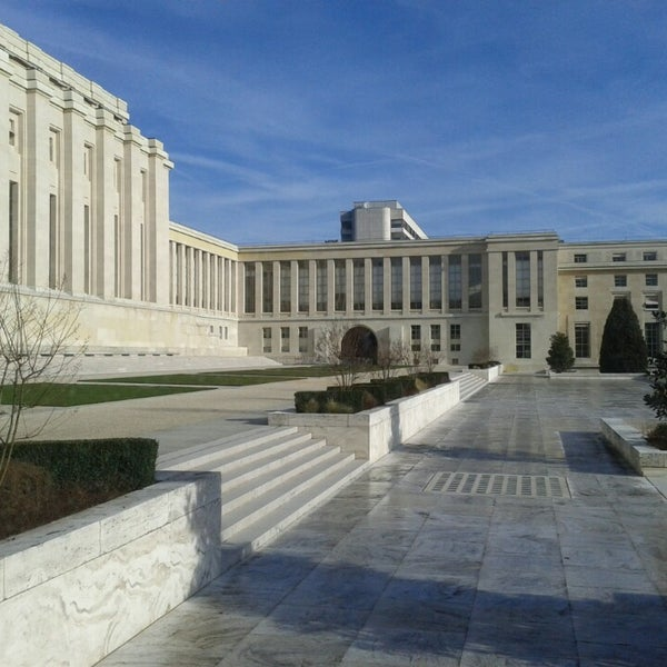 Photo taken at Palais des Nations by Brahms on 2/25/2014