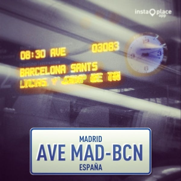 Photo taken at AVE Madrid - Barcelona by ASanRoman -. on 9/27/2013