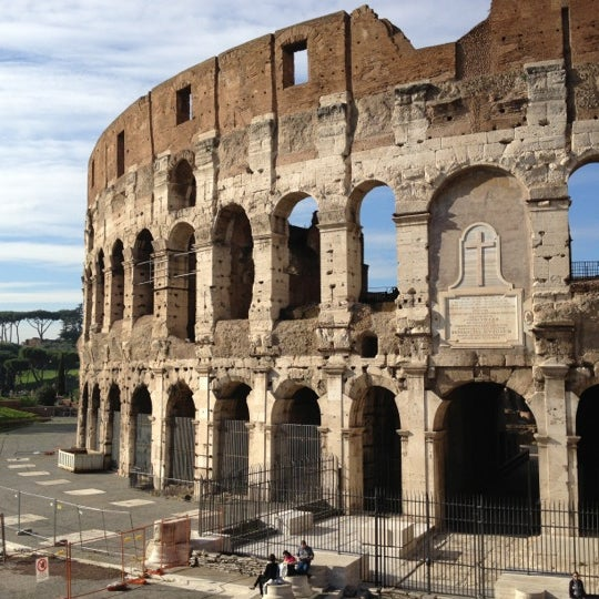 Photo taken at Piazza del Colosseo by Çağlar K. on 11/22/2012