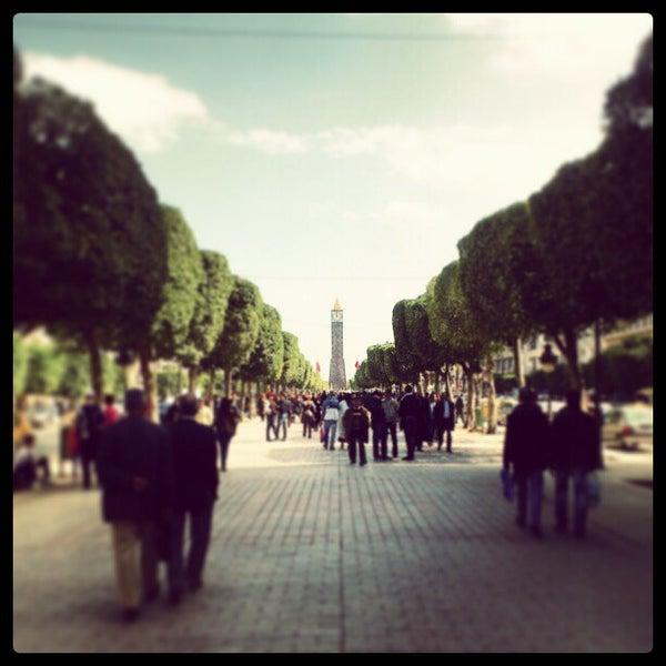 Photo taken at Avenue Habib Bourguiba I شارع الحبيب بورقيبة by Sam S. on 3/6/2013