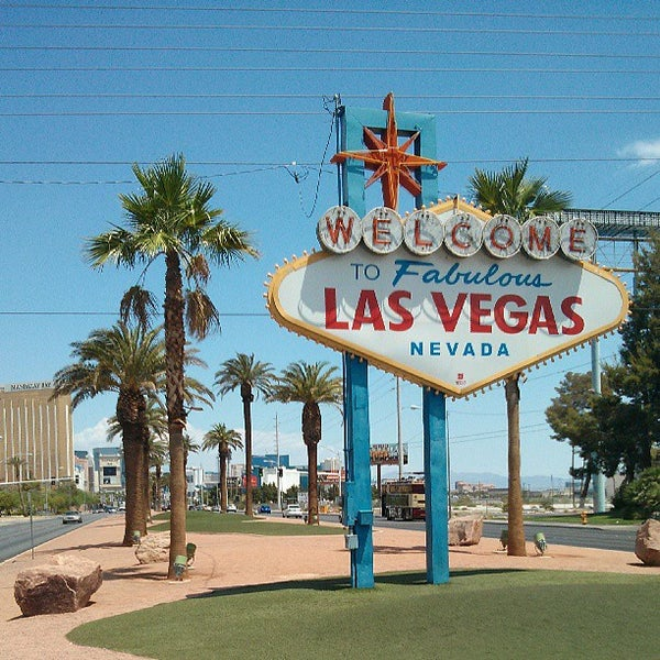 Photo taken at Welcome To Fabulous Las Vegas Sign by Khalid S. on 7/13/2013