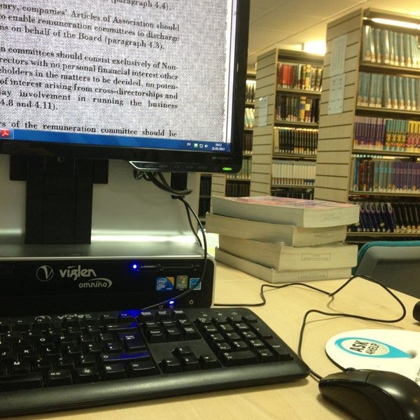 Photo taken at Northumbria University Library by Kamo K. on 1/21/2013
