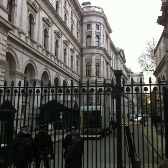 Photo taken at 10 Downing St. by Phil B. on 2/15/2013