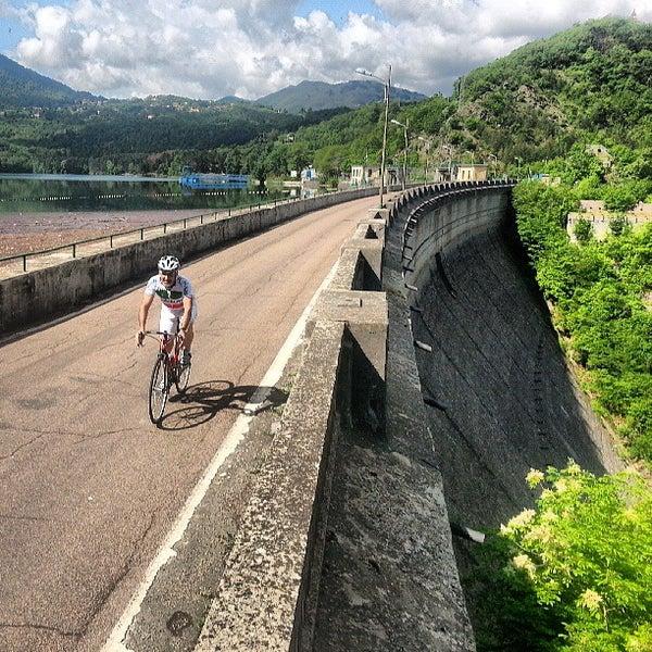 Photo taken at Lago di Suviana by Enrico P. on 5/12/2013