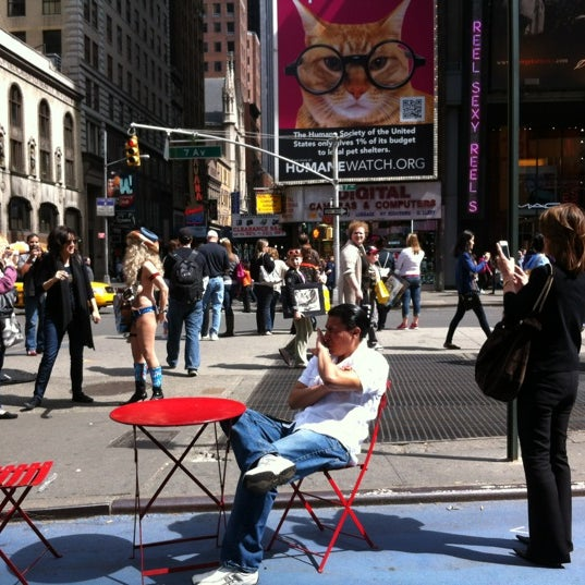"Photo taken at Max Neuhaus ""Times Square"" by Kevin R. on 4/14/2012"