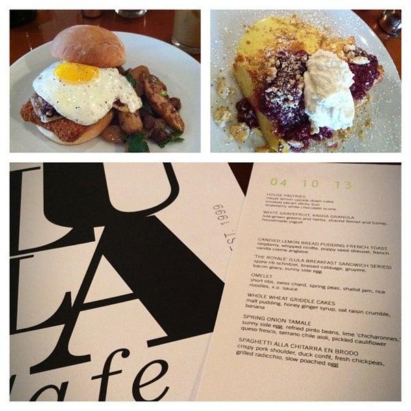 Photo taken at Lula Café by Kaytee on 4/10/2013
