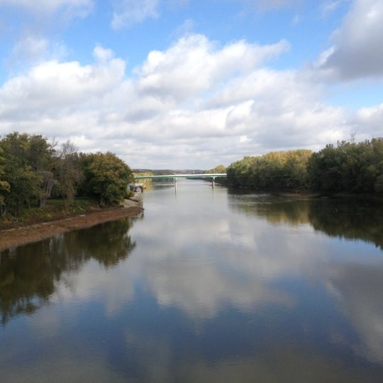 Photo taken at John T. Myers Pedestrian Bridge by Sloppy J. on 10/15/2012