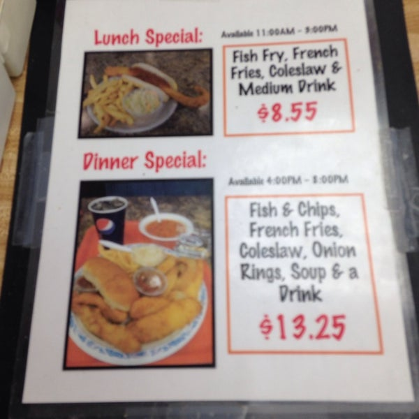 Ted 39 s fish fry 3 tips for Ted s fish fry menu
