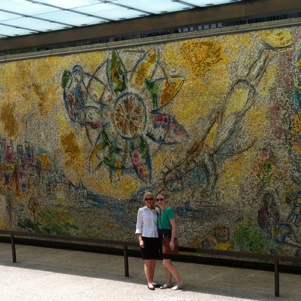 "Photo taken at Chagall Mosaic, ""The Four Seasons"" by Katherine R. on 7/7/2013"