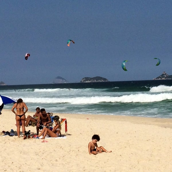 Photo taken at Praia da Barra da Tijuca by Peter J. on 4/11/2014