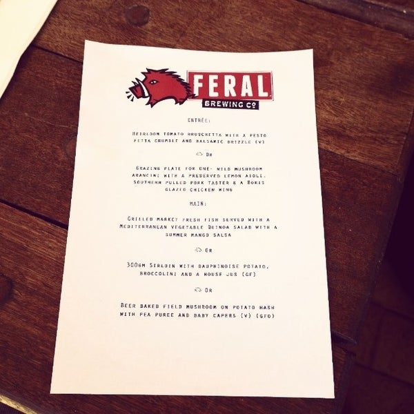 Photo taken at Feral Brewing Company by Andrew F. on 12/20/2013