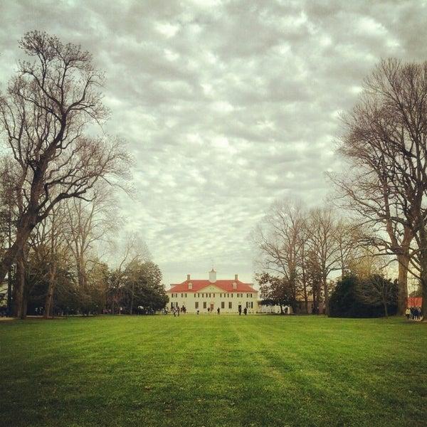 Photo taken at George Washington's Mount Vernon Estate, Museum & Gardens by Alex on 12/29/2012