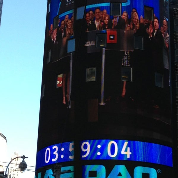 Photo taken at Nasdaq Marketsite by Jackie C. on 5/2/2013