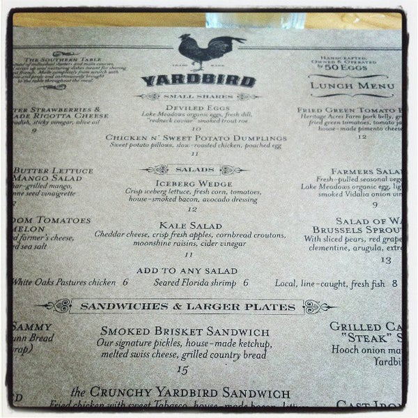 Photo taken at Yardbird Southern Table & Bar by Bmorefrench on 3/20/2013