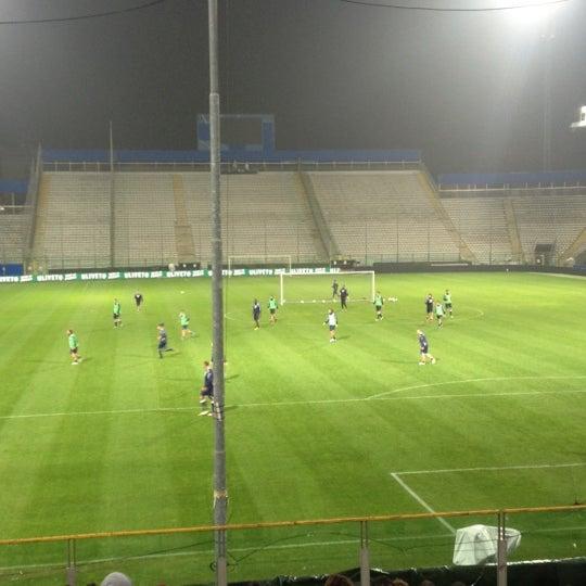 Photo taken at Stadio Ennio Tardini by Andrea on 11/13/2012