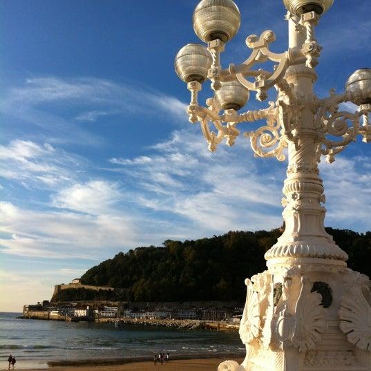 Photo taken at Paseo de La Concha by Claudio D. L. on 10/13/2012
