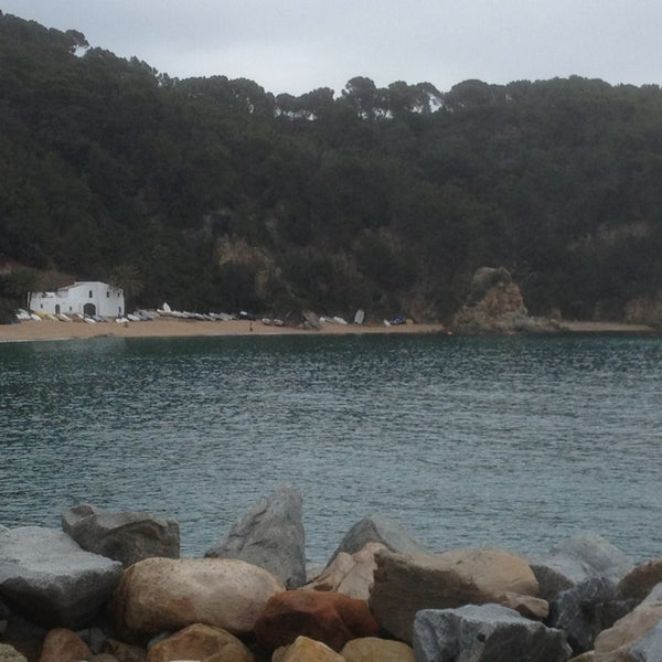 Photo taken at Cala Canyelles by Dani on 2/17/2013