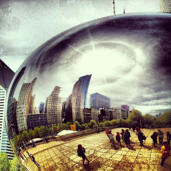 Photo taken at Cloud Gate by David B. on 5/6/2013