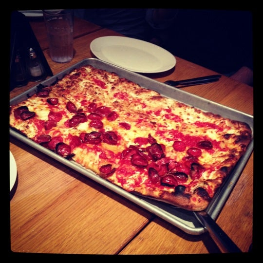 Old Fashioned Grandma Style Square  X Pizza