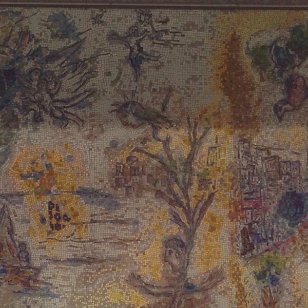 "Photo taken at Chagall Mosaic, ""The Four Seasons"" by David H. on 6/27/2014"
