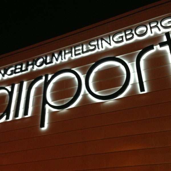 Photo taken at Ängelholm-Helsingborg Airport (AGH) by Rikard N. on 2/28/2013