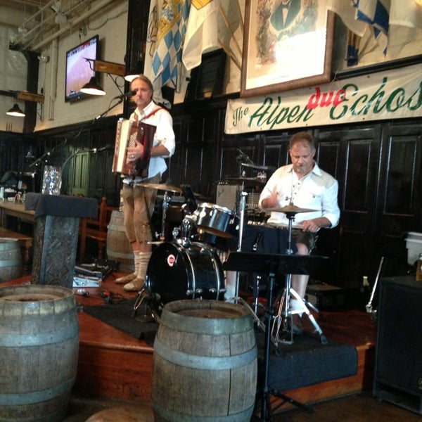 Photo taken at Hofbräuhaus Newport by Anthony S. on 7/25/2013