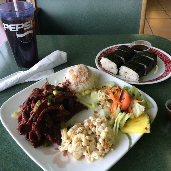 Photo taken at Aloha Hawaiian BBQ by Jay D. on 3/23/2014