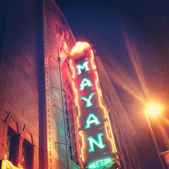 Photo taken at Mayan Theatre by Geoffrey on 11/1/2012