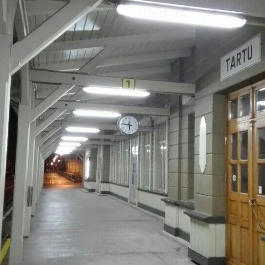 Photo taken at Tartu Raudteejaam by Chris K. on 1/30/2016