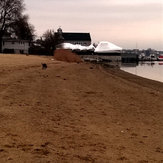 Photo taken at Constitution Beach by Shawnee on 3/12/2014