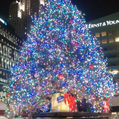Photo taken at Campus Martius Park by Jenny P. on 12/20/2012
