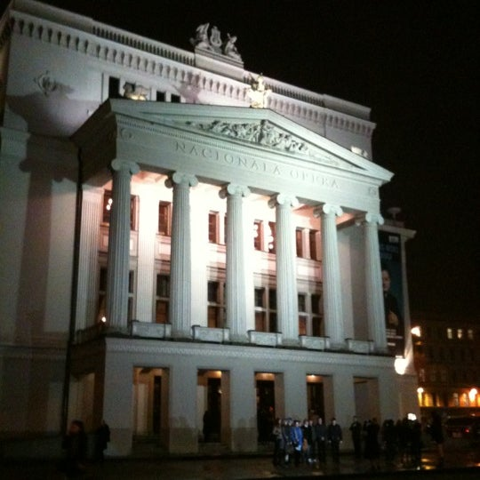 Photo taken at Latvijas Nacionālā Opera | Latvian National Opera by Svetlana on 11/23/2012