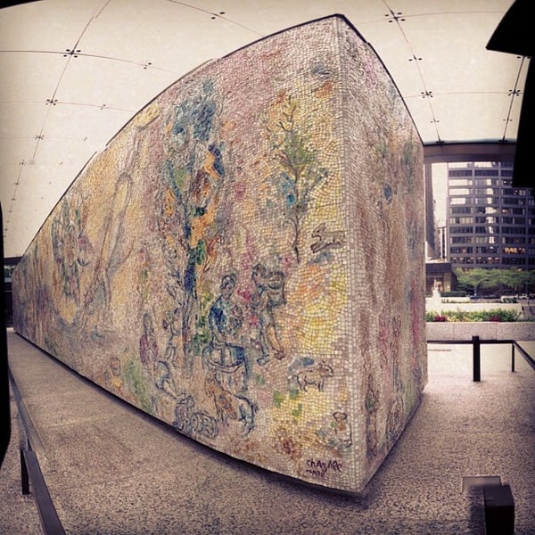 """Photo taken at Chagall Mosaic, """"The Four Seasons"""" by James B. on 7/3/2013"""