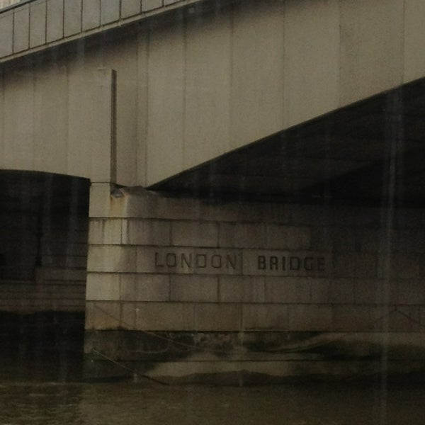 Photo taken at London Bridge by Jen B. on 2/28/2013