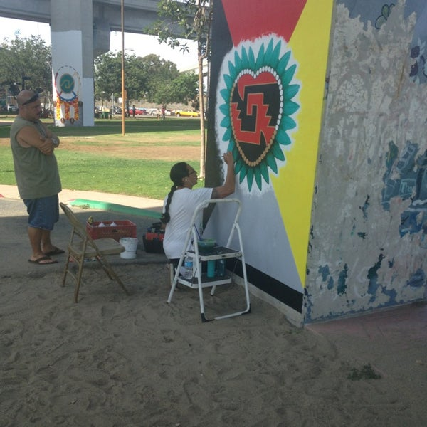 Photo taken at Chicano Park by Morgan on 9/2/2013
