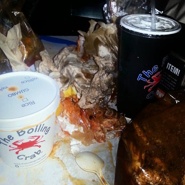 Photo taken at The Boiling Crab by MARIO81 M. on 3/28/2014