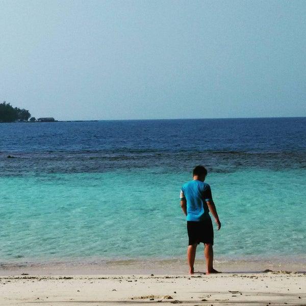 Photo taken at Pulau Pramuka by Aulia C. on 8/13/2015