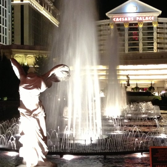 Photo taken at Caesars Palace Gardens by Rasheed on 10/22/2012