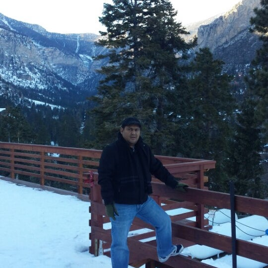 Photo taken at Mt Charleston Lodge by Irving A. on 12/6/2013